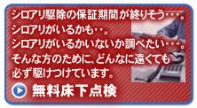 無料床下点検|シロアリ駆除、シロアリ対策ならピーシープロテック - 東京 神奈川 埼玉
